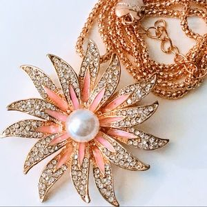 NEW! BRILLIANT FLORAL SUNSHINE CRYSTAL & PEARL